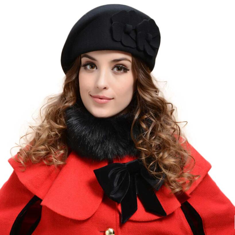 Aliexpress.com Comprar 2014 mujeres calientes fieltro francés Beret gorros de fieltro sombrero pastillero de moda increíble de sombrero atractivo fiable