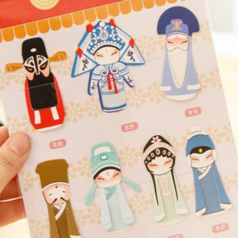 Hot Sale Chinese Traditional Peking Opera Mini Bookmark Paper Clip Memo Clip Best Gift(China (Mainland))