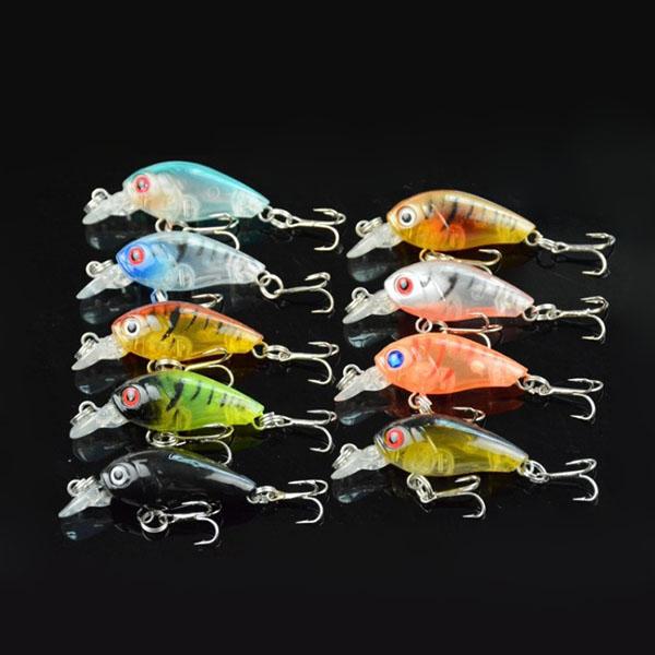 Mini 9pcs Fishing Lures Bass CrankBait Crank Bait Hardbody Shallow Diving 4.5cm/4g Hook Multicolour New<br><br>Aliexpress