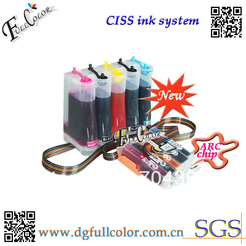 Фотография Free shipping  Compatible CISS 250 251 ink system with ink and ARC chip For PIXMA MG5420 inkjet printer CISS 5 COLOR