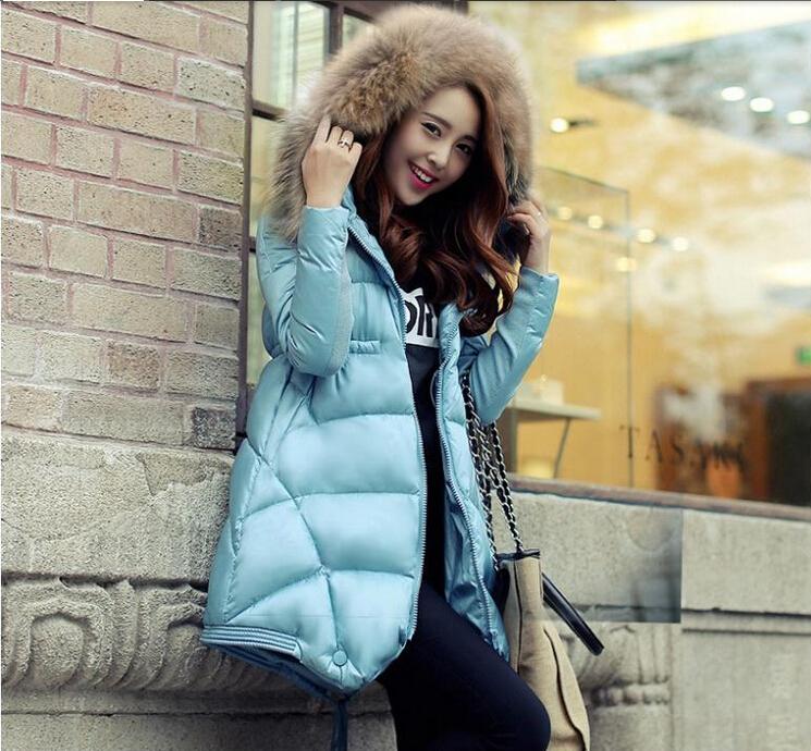 New 2015 Jacket Women CC clothes Thicken Slim Female faux Fur Collar Long Coat Women Parka Winter puffer CoatОдежда и ак�е��уары<br><br><br>Aliexpress
