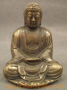 Chinese bronze kupfer buddhismus joss shakyamuni - Gartendekoration kupfer ...