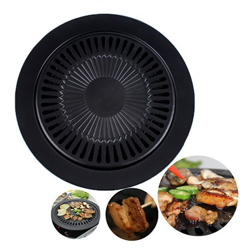 smokeless barbeque for household gas stove indoor black stove top churrasqueira bbq electric grill brazilian pan barbecue grills(China (Mainland))