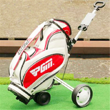 2016 New Golfe Trolley Controller Authentic! Pgm Chartered Three Hand Sliding Car Collapsible Ball Golf Cart Trolley Specials(China (Mainland))