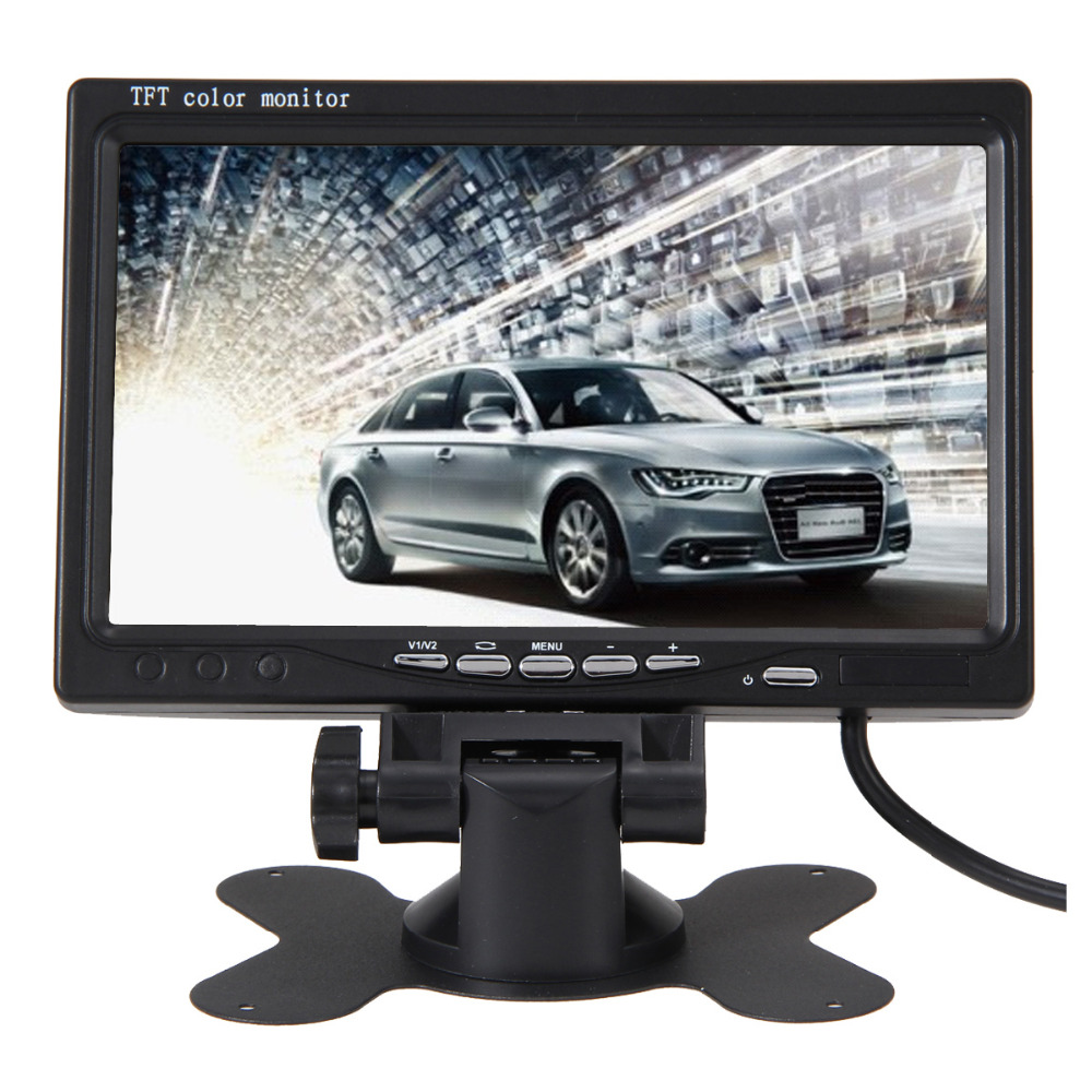 7 Inch Color TFT LCD Display DC 24V Car Rear View Headrest Monitor For DVD Reversing Camera 800 x 400 with Remote Controller E#A(China (Mainland))