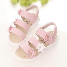 COZULMA קיץ סגנון ילדי סנדלי בנות נסיכה יפה פרח נעלי ילדים שטוח סנדלי תינוק בנות נעליים רומי(China)