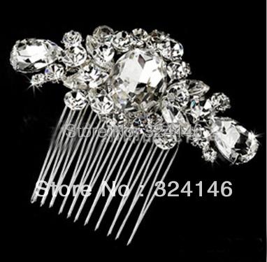 2016 New Handmade Waterdrop Rhinestone Bridal hair combs Elegant Rhinestone hair clips for Women Wedding Hair Accessories