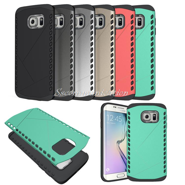 For Samsung S6 Edge Hybrid Shockproof Boat Ship Rocket Design 2 in 1 Back Cover Case For Samsung Galaxy S6 Edge G9250 +Stylus(China (Mainland))