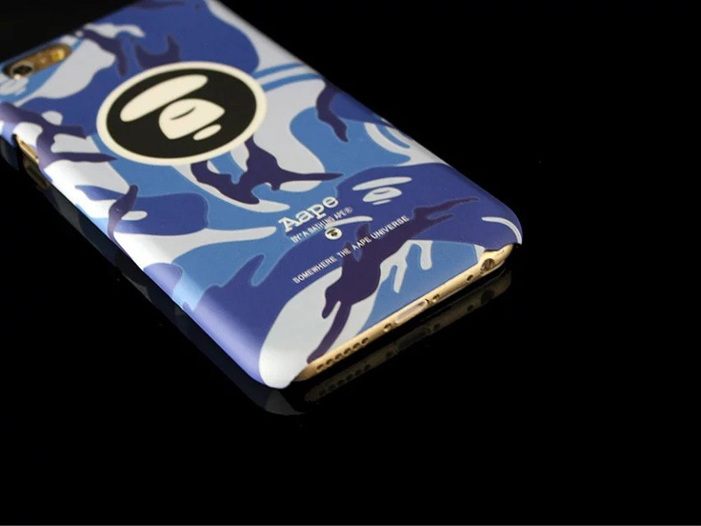 2016 Fashion Bape Phone Case Pithecanthrope Pattern Painted Hard Phone Case Back For iPhone 7 6 6s 4.7″ 7 6 6s Plus 5.5″