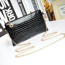 Bolsas Femininas Small Shoulder Bag Crocodile Pattern Desigual Bag Women Messenger Bags for Women Handbag 2015 New Black Clutch