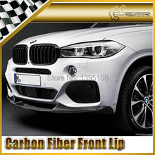 Car Styling For BMW 2014 X5 F15 M Performance Type Real Carbon Fiber Front Lip(China (Mainland))