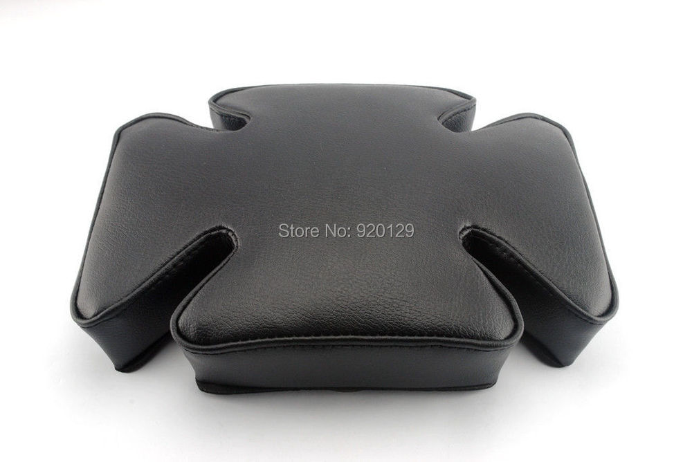Free shipping Motorcycle parts Portable Rear Suction Cup Passenger Seat Pillion Pad For font b Harley