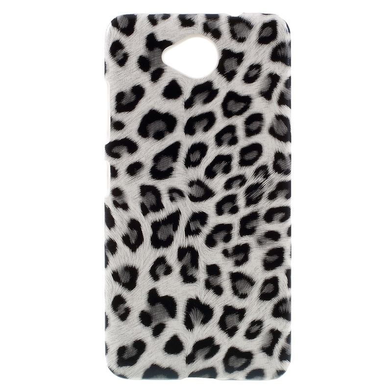 For Nokia 650 Phone Case Leopard Skin PU Leather Coated Plastic Cover for Microsoft Lumia 650 / Dual Cases(China (Mainland))