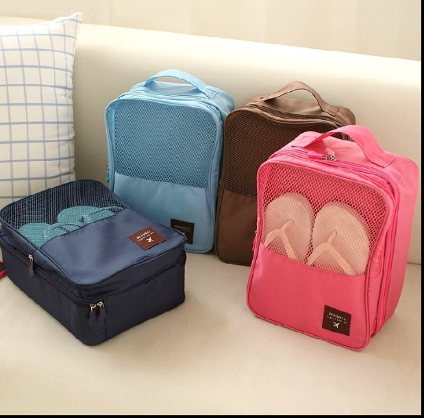 21.5*29*13cm large 3 layers Newest Nylon Mesh Travel Portable Tote Shoes Pouch Waterproof Storage Bag Ver3 Made in Korea(China (Mainland))