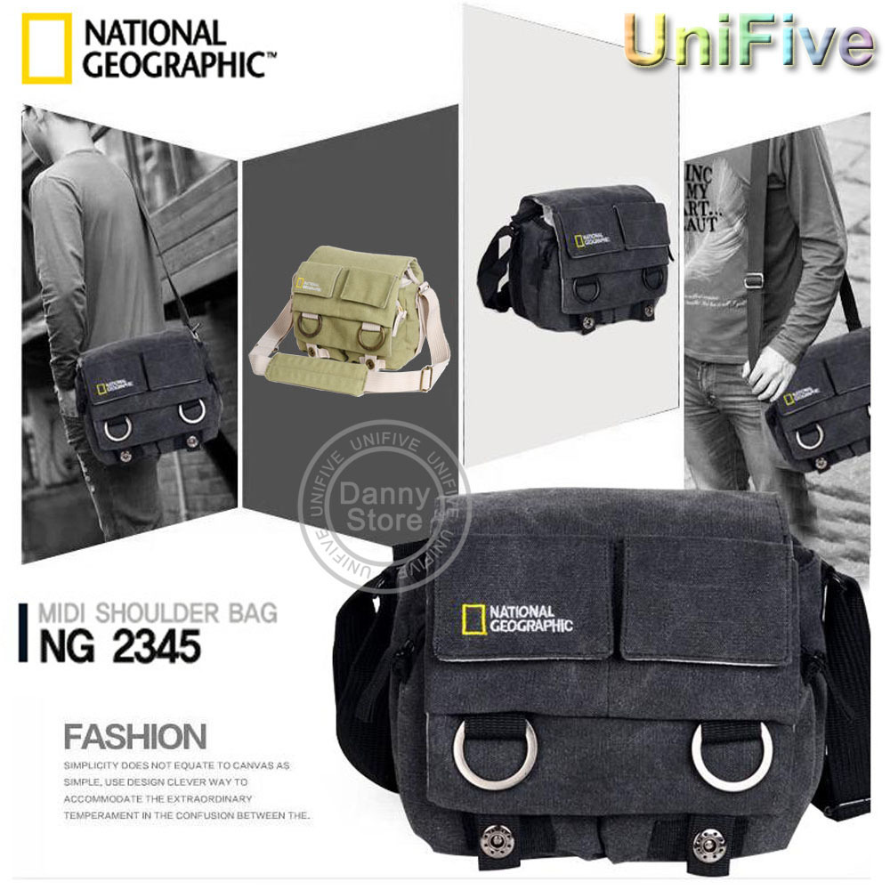 Universal National Geographic NG2345 canvas professional case Black Gray camera bag for Canon Nikon Sony Pentax dslr NG 2345 от Aliexpress INT