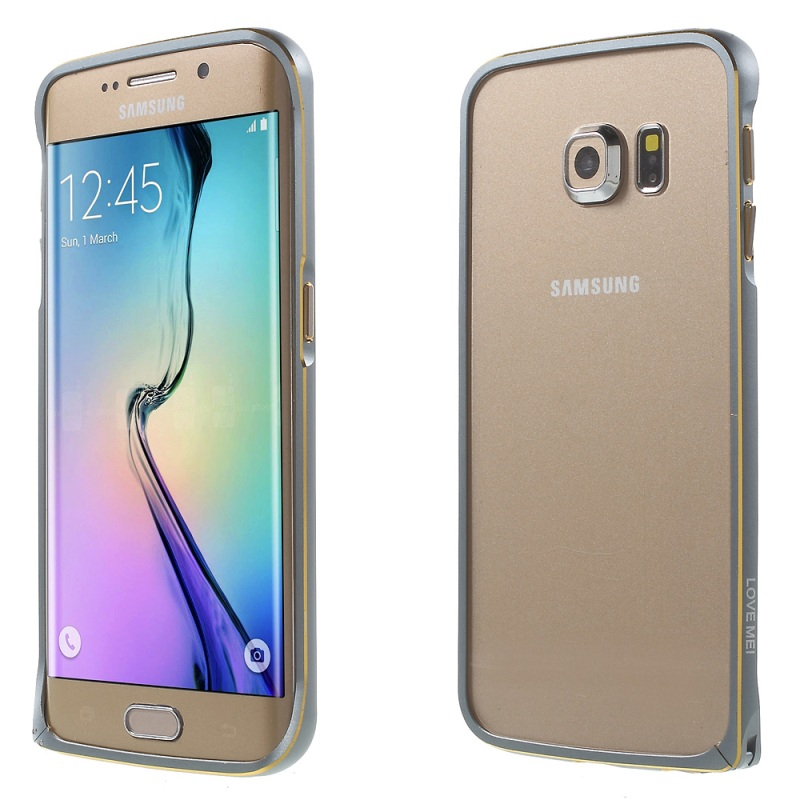 For Samsung S 6 Edge Backless Cover LOVE MEI Hippocampal Buckle Metal Bumper Rim for Galaxy S6 Edge G925 Curved Edges(China (Mainland))