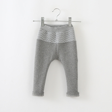 Boys and girls winter plus thick velvet trousers children casual pants kids infant baby long pants()