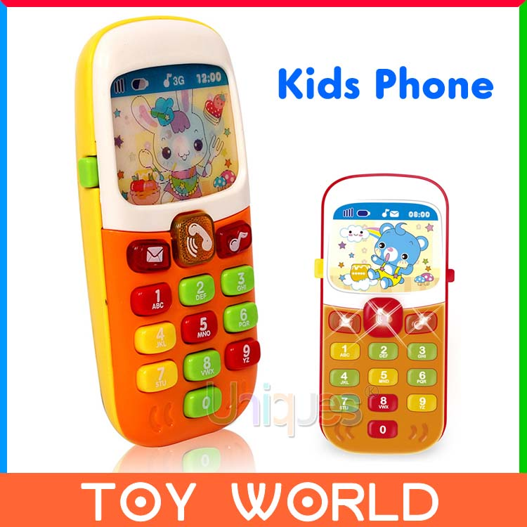 Free Ship Electronic Toy Phone Kid Mobile Phone Cellphone Telephone Educational Learning Toys Music Machine Best Gift for kid(China (Mainland))