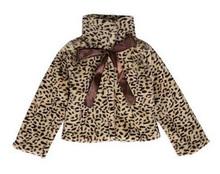 kids Clothes Winter Warm Outerwear baby girl Leopard Cashmere coat new designer Woolen jacket Children Jackets roupa infantis(China (Mainland))