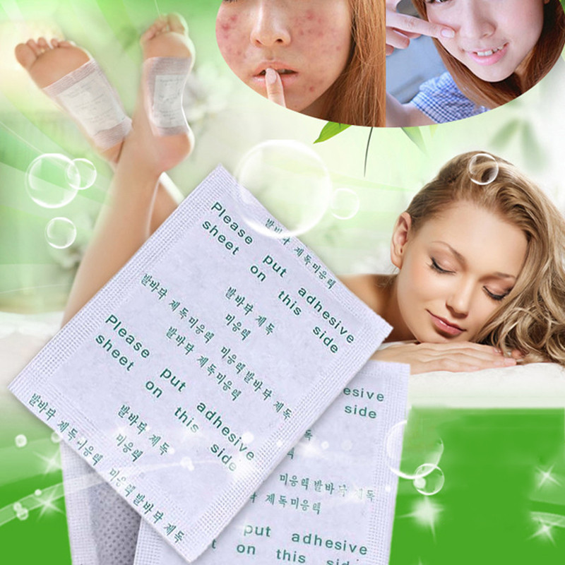 Гаджет  10 X Free Shipping Detox Foot Patch Health Care Best Gift Bamboo Pads Patches Sticker 10pcs=10pcs Patches+100pcs Adhesives None Красота и здоровье