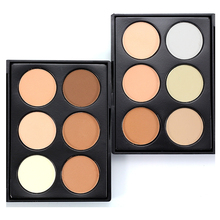 Professional Face Makeup 6 Color Bronzer & Highlighter Powder Trimming Powder Make Up Cosmetic