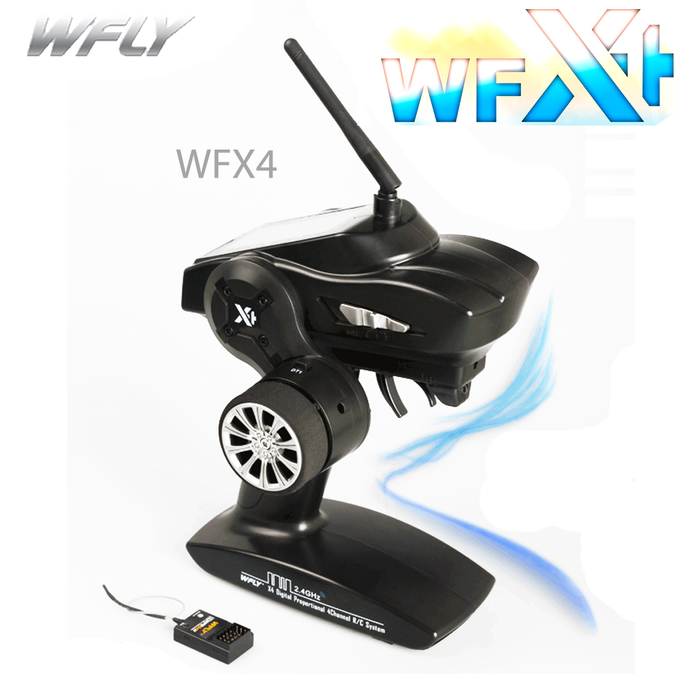 WFLY X4 Gun Control WFX4 Cost-effective Remote Travel 4CH 2.4G Transmitters for RC Car and Boat Free Shipping