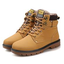 Estupendo hombres invierno Martin botas hombre zapatos exterior de goma impermeable botas de nieve de herramientas ocio botín de piel botas botas pisos(China (Mainland))