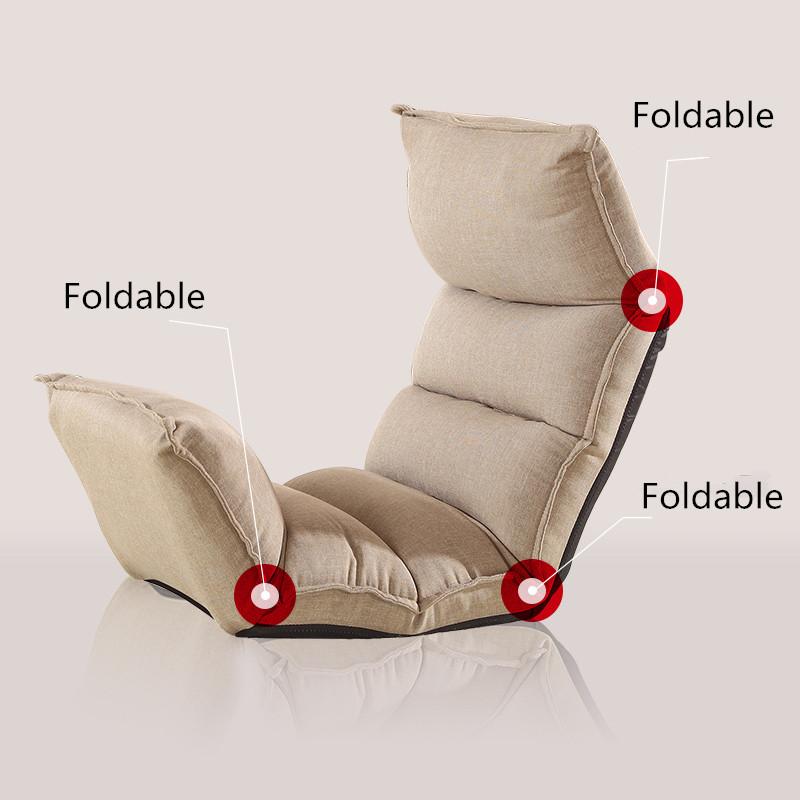 4 Colors Floor Folding Adjustable Sleep Lounger Kooshen