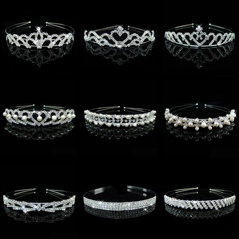 HOT Sale Charm Wedding Bridal Bridesmaid Tiara Crown Headband Heart Flower Girls Love Crystal Rhinestone Party