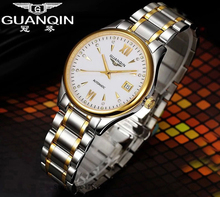 Origianl GUANQIN Top Brand Luxury Fashion Quartz Watch Men Waterproof Luminous Date Men Watches Relogios Masculino Relojes