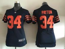2016 Women Chicago Bears, 34 Walter Payton Kyle,17 Alshon Jeffery 22 Matt Forte Orange navy, 100% stitched logo,camouflage(China (Mainland))