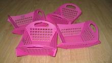 2pcs/set folding chips fast food basket for restaurant bread basket portable basket(China (Mainland))
