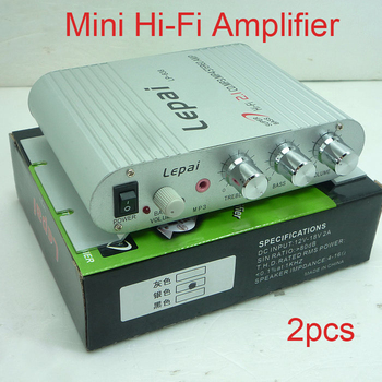 2pcs/lot 200W 12V Super Bass 2.1 Channel Mini Hi-Fi Amplifier Radio MP3 Stereo for Car Motorcycle Boat Home Player