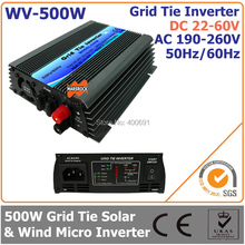 500W 22-60VDC 190-260VAC grid tie micro inverter working for 30V or 36V solar power system or wind system(China (Mainland))