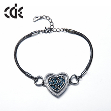 bracelet love bracelets & bangles for womenerkek bileklik femme 2016 wristband heart handmade braclet Jewelry turkey B0867(China (Mainland))