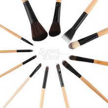 12pcs Professional Makeup Brushes Set tools Make up Toiletry Kit Wool Brand Make Up Brush Set