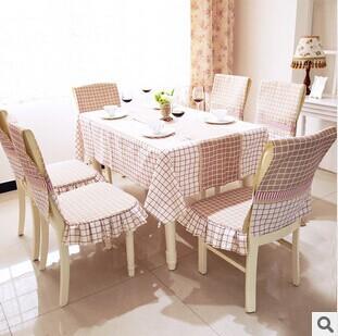 Free shipping new 2015 fashion plaid table cloth, high-quality cotton cushion set, coffee table, home, wedding party(China (Mainland))
