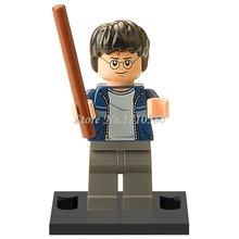 XINH 310 Harry Potter With Dark Blue Open Jacket Minifigures Literature Novels Building Blocks Sets Model Figure Toys