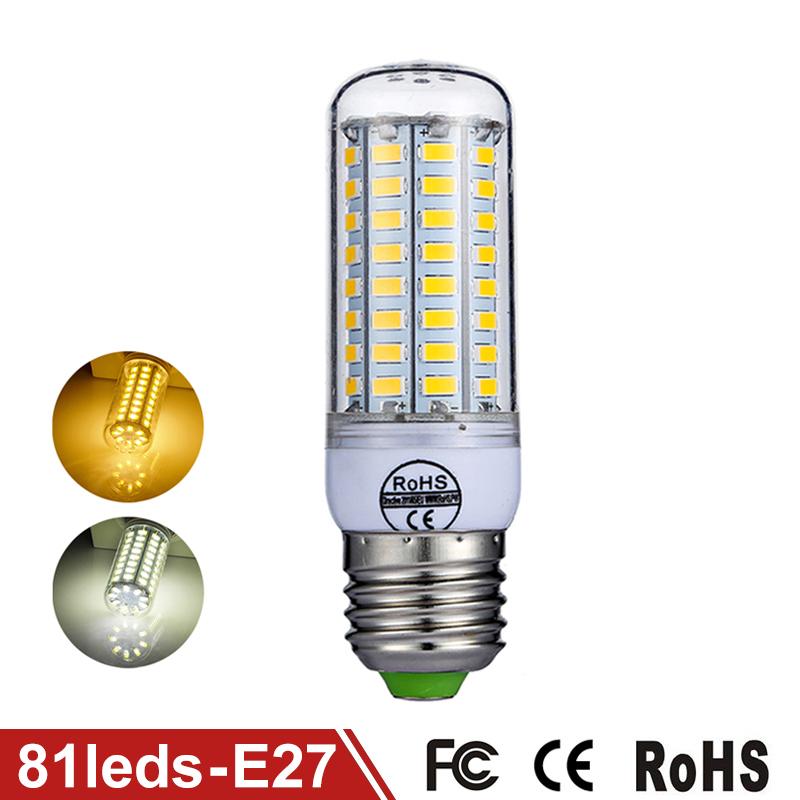 LED Light Corn Bulb E27 81LEDs SMD5730 Lampada LED Lamp 220V 240V Chandelier Lamps Replace Halogen Floodlight Warm/Cold White(China (Mainland))