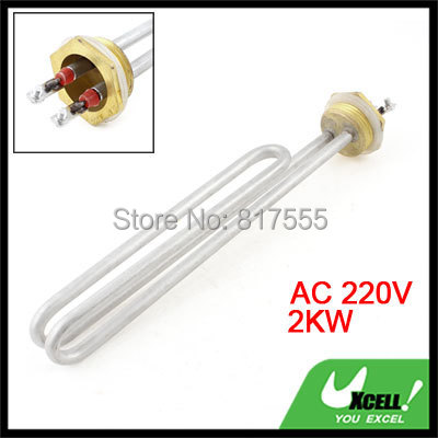 220V 2KW Bundle Electric Water Boiler Heating Element Heater Silver Tone Discount 50(China (Mainland))