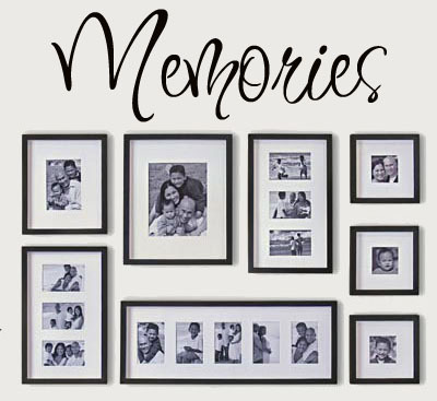 Memories wall say quote word lettering art Vinyl Wall