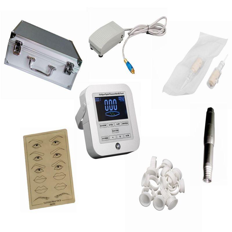 Motor rotary hand piece micro needle aluminum intelligent digital eyebrow lip for CTD003 tattoo permanent makeup machine kit