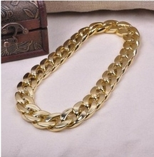 GR Jewelry  Hot Sale Ultralarge Punk Fashion Hiphop Personality Chain Coarse Women  Necklace(China (Mainland))