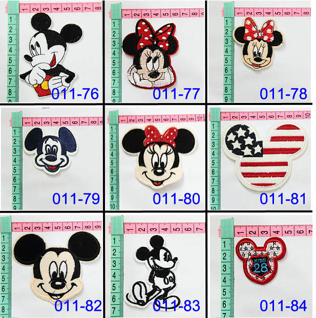 Cartoon Mouse Embroidery Cloth Iron On embroidered patches for clothes logo Patch Sew Motif Applique women apparel accessories(China (Mainland))