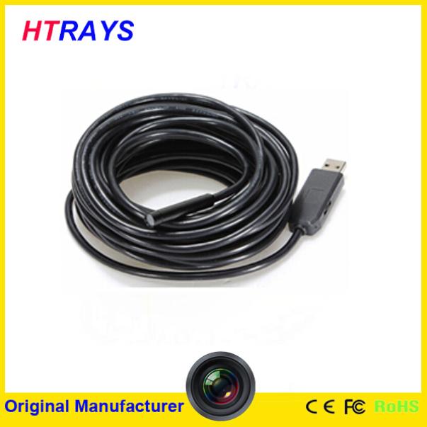 9mm digital 7M waterproof snake tube endoscope with HD 720P resolution usb endoscope camera(China (Mainland))