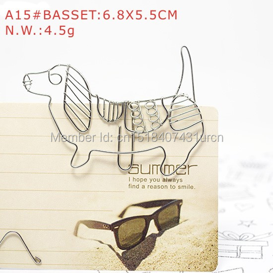 A15 DOG BASSET PAPER/NOTE CLIP PRACTICAL/NOVELTY/ANIMAL STAINLESS HAND-MADE ART CRAFTS WEDDING&BIRTHDAY&HOME&OFFICE&GIFT&PRESENT(China (Mainland))