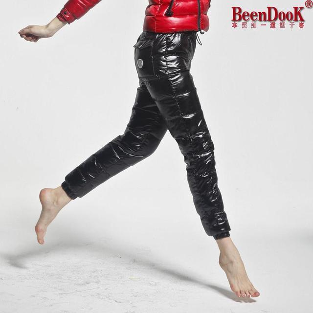 2012 down pants female lovers straight pants thermal slim down pants beendook 1106 female
