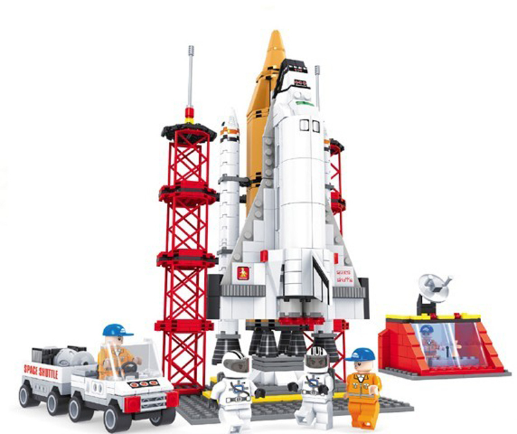 Best Spaceship Rockets Toys For Kids : Ausini space shuttle launching base building blocks hot