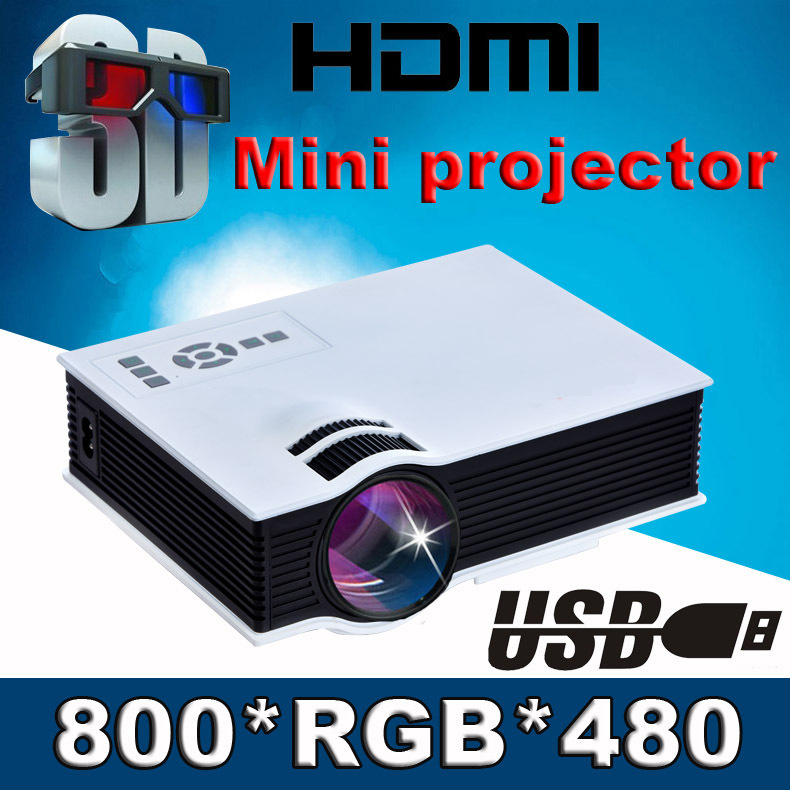 Hot ! Original UC40 Mini Pico portable 3D Projector USB HDMI For Home Theater beamer multimedia proyector Korean Russian Spanish(China (Mainland))