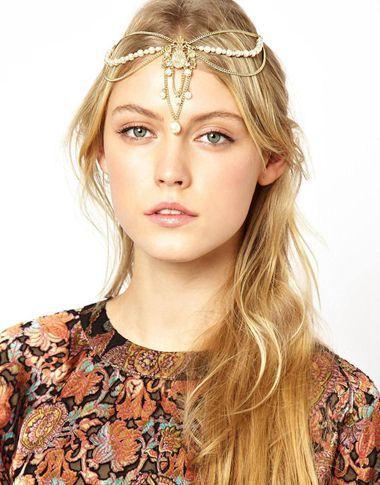 Women Pearl Tassels Crown Hairbands Crystal Rhinestone Forehead Headbands Headwear Bridal Hair Accessories Jewelry - Westlife shop store